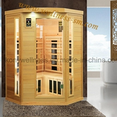 corner far infrared sauna room with combined heater made in china