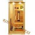Far infrared sauna  with glass door