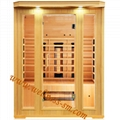 Far Infrared Dry Sauna Room Made of Canada Hemlock with Big Front Glass Wall