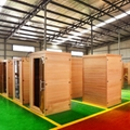 Far Infrared Dry Sauna Room Made of Canada Hemlock 3