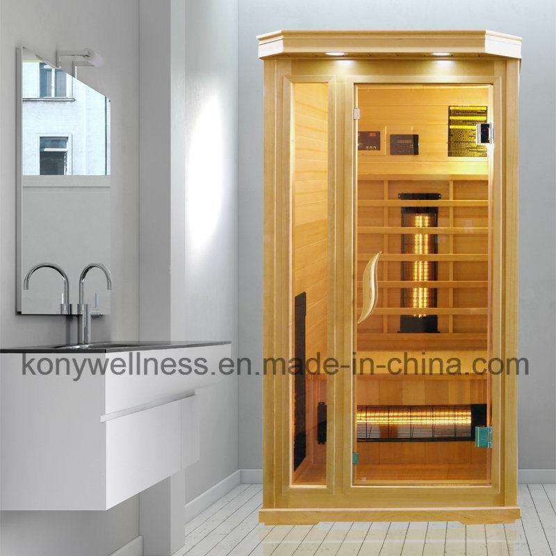 1 person far infrared sauna, big glass window