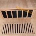 portable far infrared dry sauna room with sand glass door made in hemlock wood