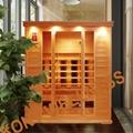 square hemlock wood dry sauna