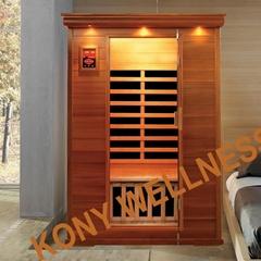 portable infrared sauna made of cedar wood CE ETL