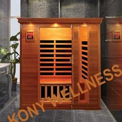 Canada cedar wood sauna room