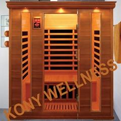 square big sauna made of canada cedar wood CE ETL