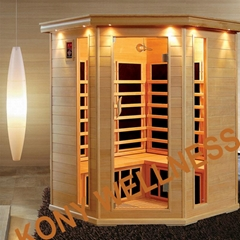 big corner far infrared sauna made in China with CE ETL