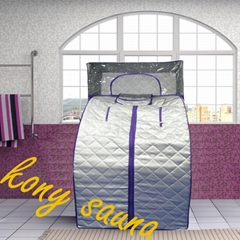 full body steam sauna with big sauna cap