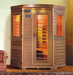 small corner Far Infrared Sauna with cedar wood