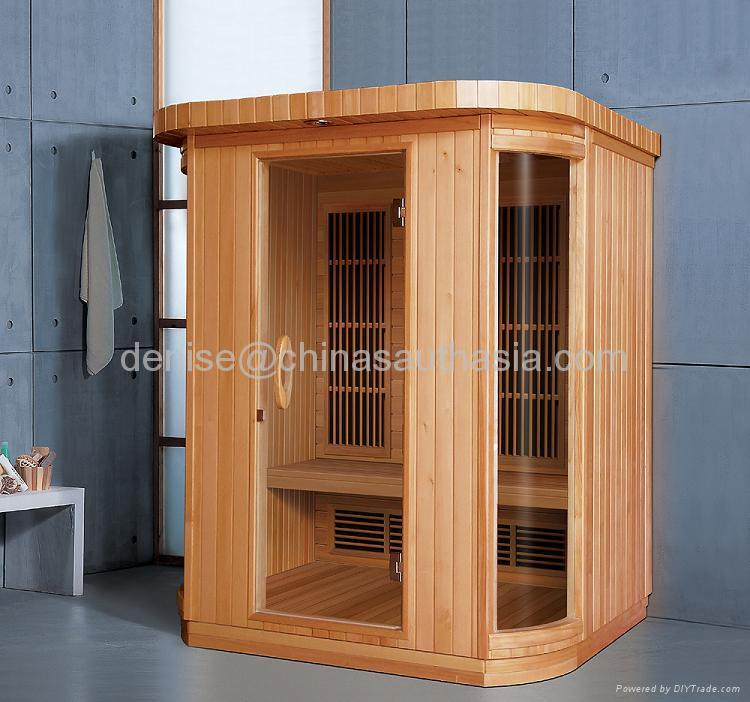 3 persons infrared sauna ky ah033lr kony china for Cost of building a home sauna