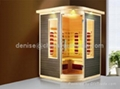 cherry surface corner infrared sauna room