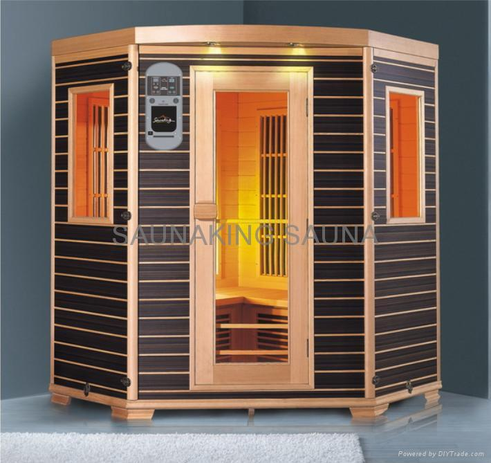 Infrared sauna room ky ah033 kony china manufacturer for Cost of building a home sauna