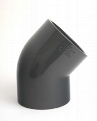 UPVC/CPVC DIN PN10/16 45度弯头