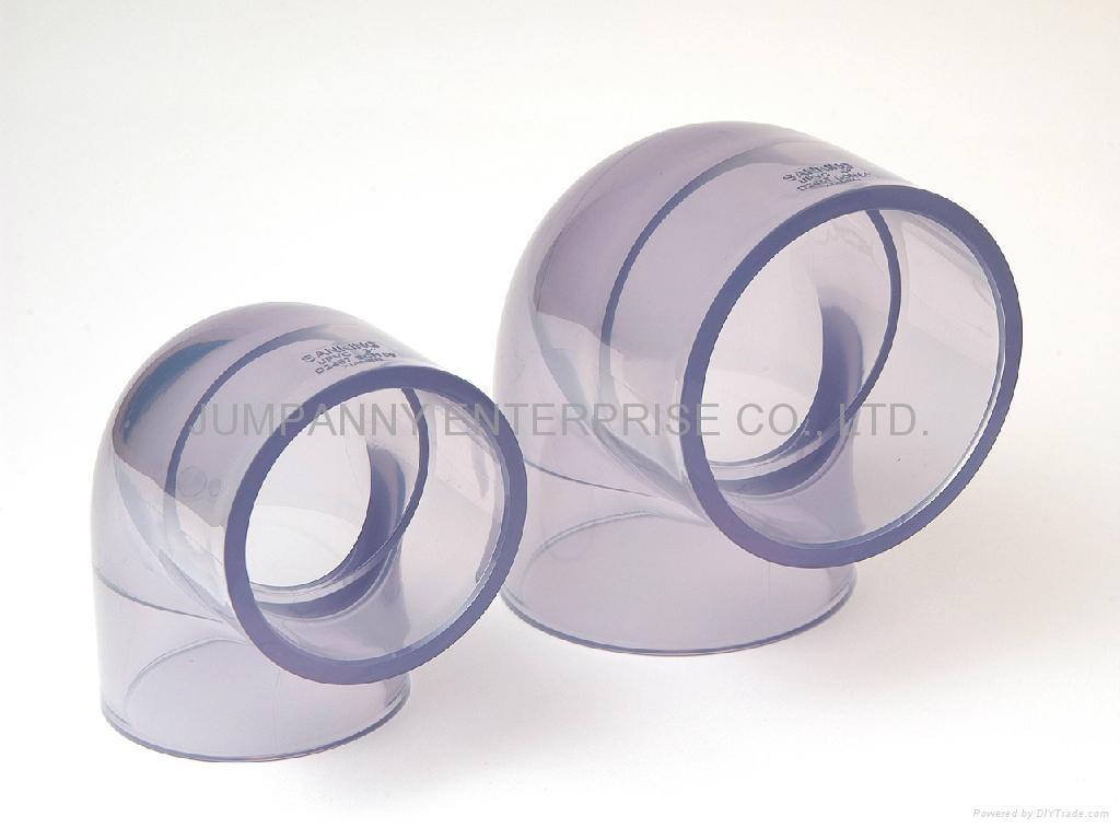 透明PVC 90度弯头 1