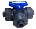 3 WAYS TURE UNION BALL VALVE