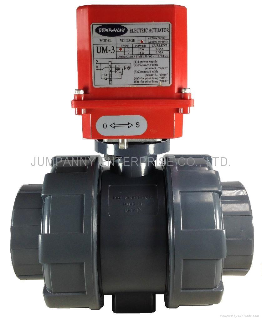 JUMPANNY耐酸硷电动执行器球阀 1
