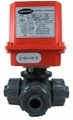 Electric Actuator Three Way Ball Valves