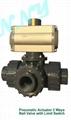 Pneumatic Tree Way Ball valve