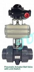 JUMPANNY耐酸硷气动执行器塑胶球阀