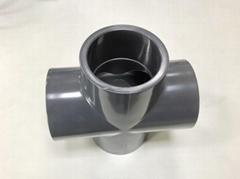 美标PVC SCH80四通(十字通)