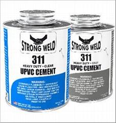 UPVC膠水,PVC黏合劑,膠合劑工業專用灰色