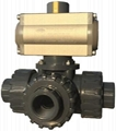 Pneumatic Tree Way Ball valve