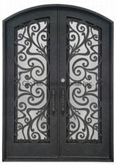 Insulated wrought iron door