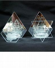 玻璃组装烛台