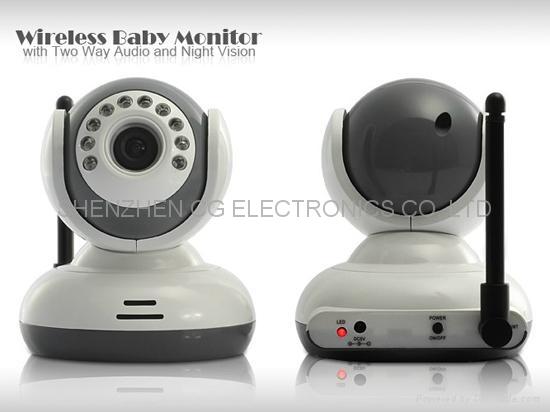 202rcbb 2 4 wireless digital baby monitor ir video talk 2x camera vox av out cg electronics. Black Bedroom Furniture Sets. Home Design Ideas