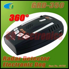 GRD-350 Car Radar Detector Alarm Electronic Dog - X,K,KA,KU 12 Band 360° Protect