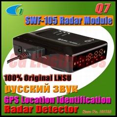 Original LNSU Q7 Russian Voice GPS Location Car Vehicle Anti Radar Detector