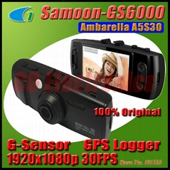 Original GS6000 Ambarella A5S30 Chip FHD 1920x1080P 30FPS Dashboard Car DVR