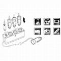 3 Way Car Cigarette Splitter Triple socket Switch DC 12V/24V USB Charger output  2