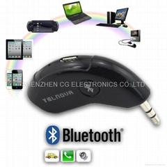 Wireless Bluetooth 3.0 + EDR Handsfree AUX Bluetooth Receiver Car 3.5mm Adapter