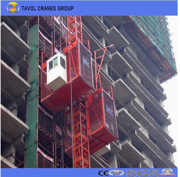 Construction Hoist 2ton Double Cage (SC200/200) Passenger Hoist 1