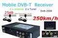 DVB-2008 mobile digital TV receiver, DVB-T Tuner,250km/hour DVB-T tuner,TNT