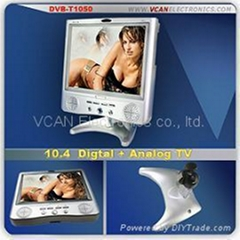 10.4 inch digital TV with super high definition TFT screen