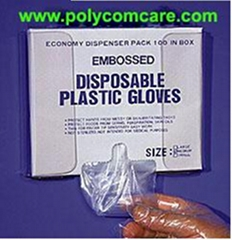 PE Poly Glove  with Dispenser Box