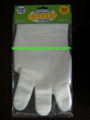 PE Poly glove on cardboard