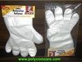 PE Poly glove on cardboard
