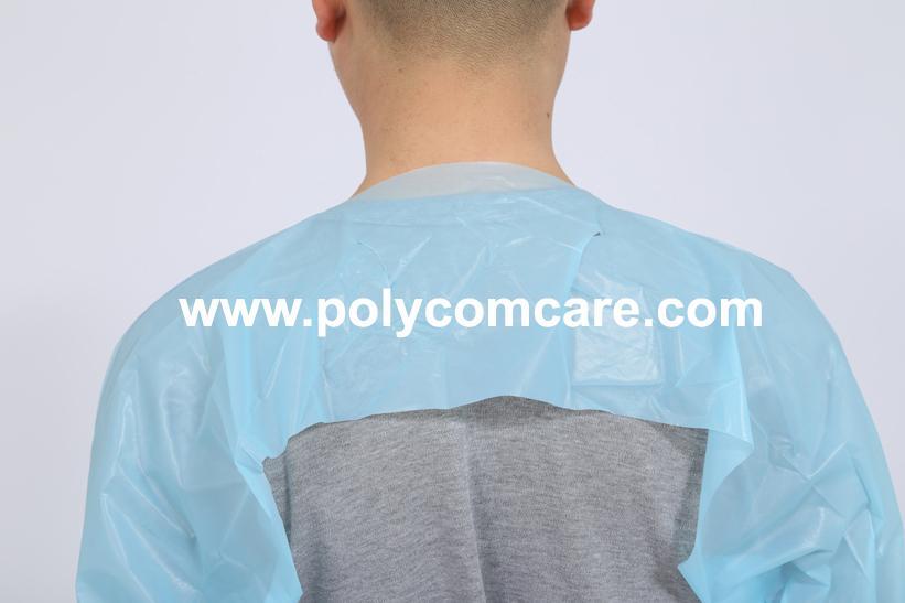 Polyethylene Thumb Loop Style  Isolation Gown 3