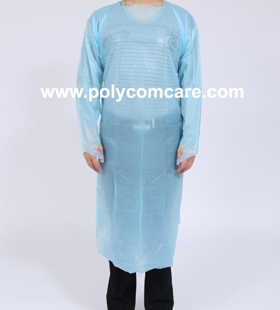 Polyethylene Thumb Loop Style  Isolation Gown 1