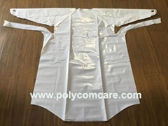 CPE/ Polyethylene medical gown with thumb loop