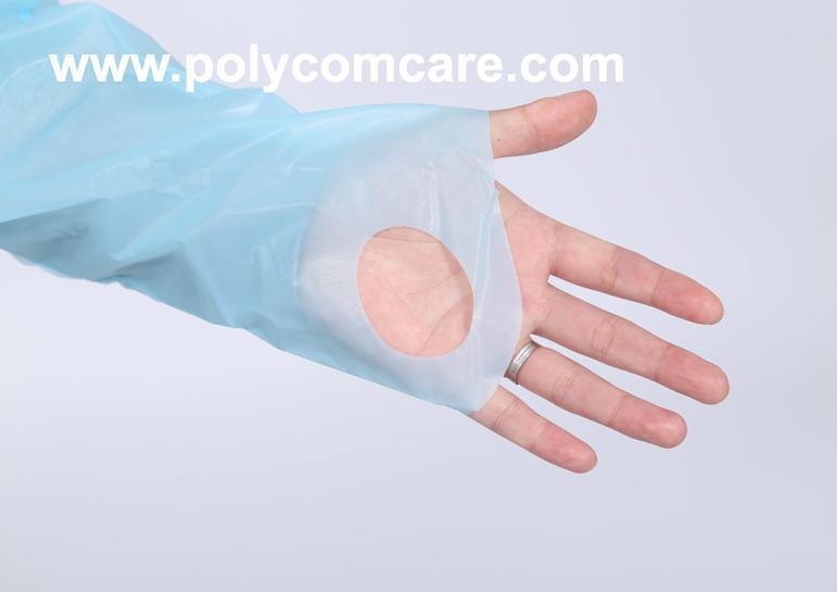 Polyethylene Thumb Loop Style  Isolation Gown 5
