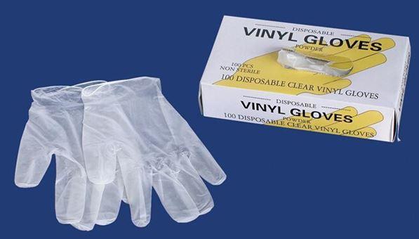 Disposable Vinyl Gloves-powdered, DEHP FREE 1