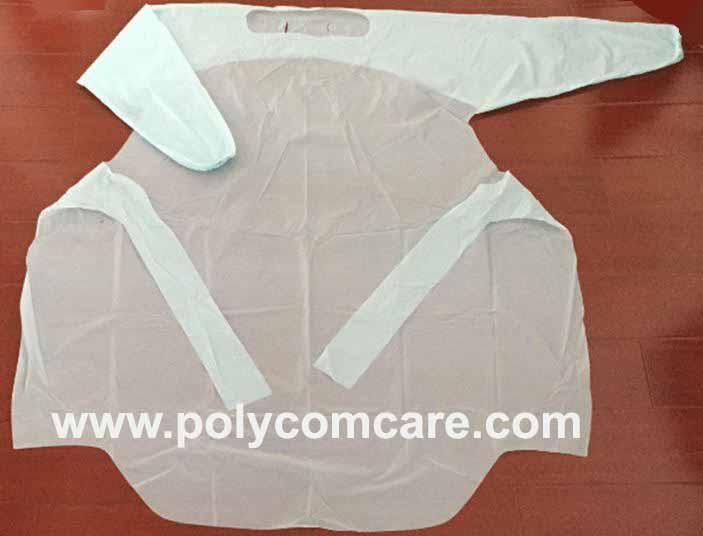 PE/Plastic isolation gown 1