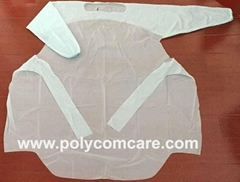 PE/Plastic isolation gown