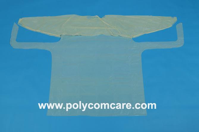 PE/Plastic isolation gown 3