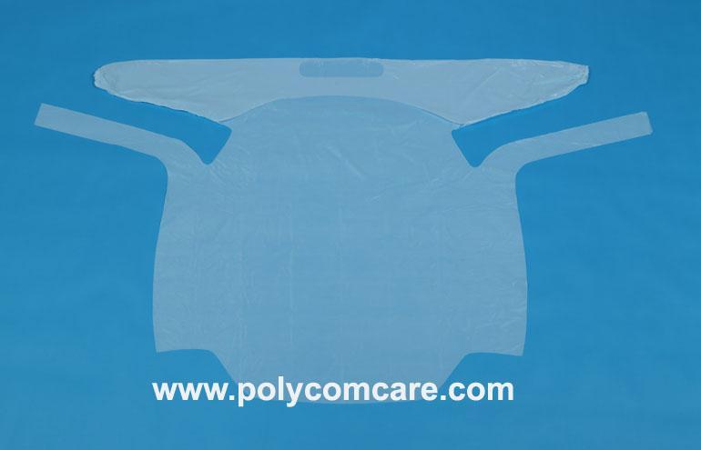 PE/Plastic isolation gown 4