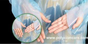 Polyethylene Thumb Loop Style  Isolation Gown 7